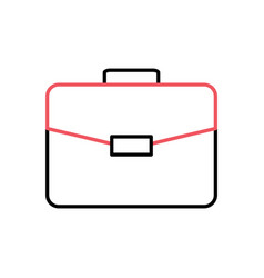 briefcase thin line related icon vector image