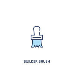 Builder brush concept 2 colored icon simple line vector