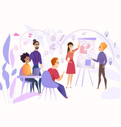 business team brainstorming cartoon concept vector image