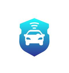 Car alarm icon vector