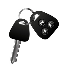 car vehicle keys icon vector image