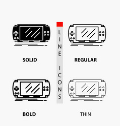console device game gaming psp icon in thin vector image