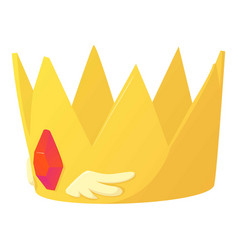 Crown icon cartoon style vector