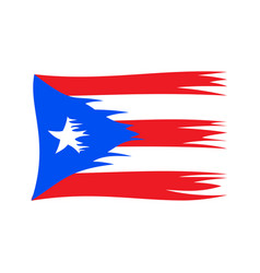 damaged puerto rican flag vector image