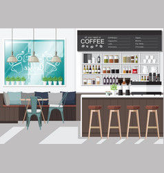 design your coffee shop vector image