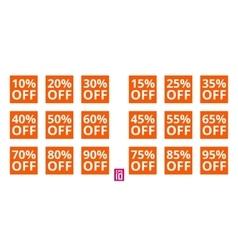 Discount square set vector image