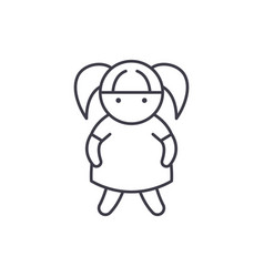 doll line icon concept doll linear vector image