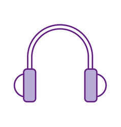 earphones device isolated icon vector image