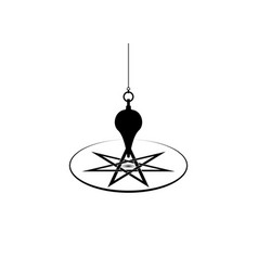 esoteric pendulum magic for divination isolated vector image
