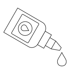 Eye drops bottle icon outline style vector