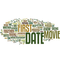first dates skip the movie and popcorn text vector image