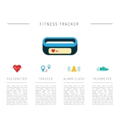 Fitness activity tracker 02 vector