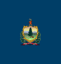 Flag usa state vermont vector