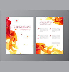 Flyer orange brochure abstract design 2 vector