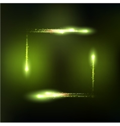 Frame formed by lights and sparkles vector