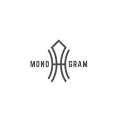 Geometric monogram ha vector