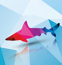 geometric polygonal shark pattern design vector image