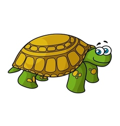 green cartoon turtle with yellow spots vector image