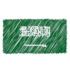 hand drawn national flag of saudi arabia isolated vector image
