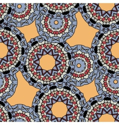 Indian ornament kaleidoscopic flora pattern vector
