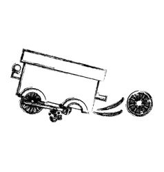 Isolated toy cart damaged design vector