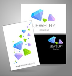 jewelry boutique sign logo vector image
