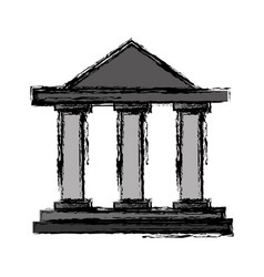 Law court building icon vector
