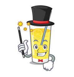 Magician lemonade mascot cartoon style vector