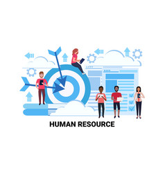Mix race business people group team human resource vector