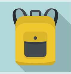 notebook backpack icon flat style vector image