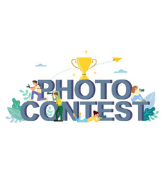 Photo contest flat style design vector