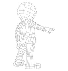 puppet 3d man pointing at camera vector image