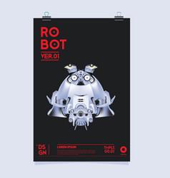 Realistic robot robot and toys design festival vector