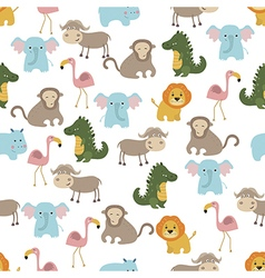 Seamless cartoon pattern vector image