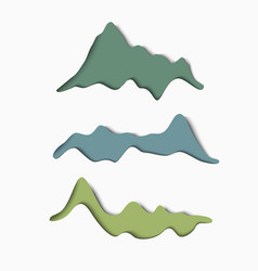 set of stylized paper mountains vector image