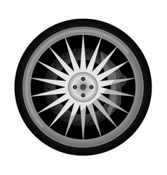 Sport car titanium rim icon vector