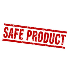 square grunge red safe product stamp vector image