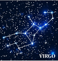 Symbol Virgo Zodiac Sign vector