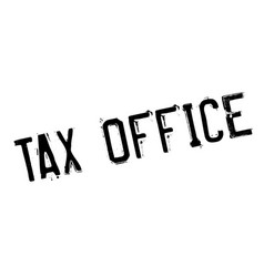 Tax office rubber stamp vector