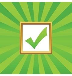 Tick mark picture icon vector image