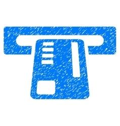 Ticket Machine Grainy Texture Icon vector image