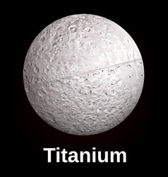 Titanium icon realistic style vector