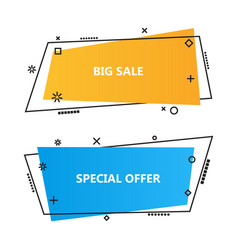 trendy promotion business bannersspeech bubbles vector image