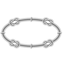 Twisted rope oval - elliptic frame with knots vector