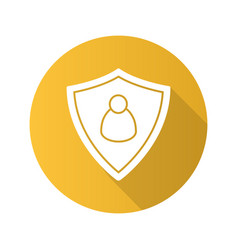 User security flat design long shadow icon vector