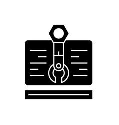 web project black concept icon web project vector image