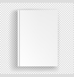 White book a4 format mock up isolated vector
