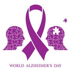 world alzheimer day vector image