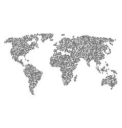 World map pattern of newborn items vector