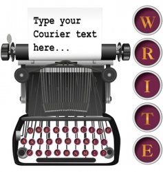 antique typewriter vector image vector image